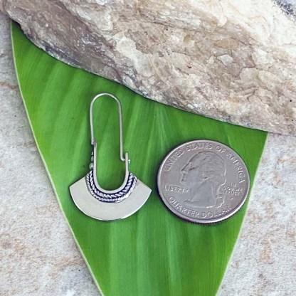 Sterling Silver Fan Earrings