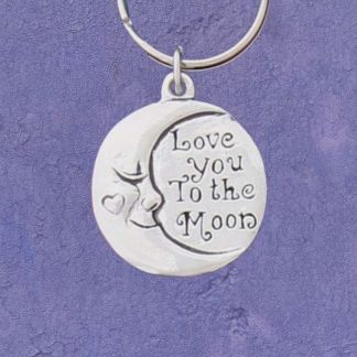 Love You Pewter Keychain
