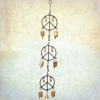 Peace Signs Wind Chime