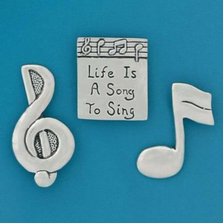 Life Song Pewter Magnets