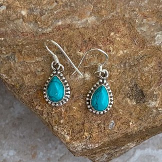 Turquoise & Sterling Beaded Earrings