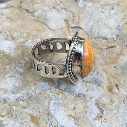 Bumblebee Jasper Sterling Ring