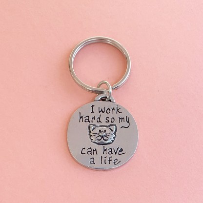 Cat Life Key Chain