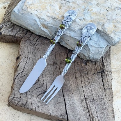 Cocktail Fork and Knife
