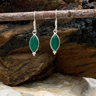 Green Onyx Sterling Earrings