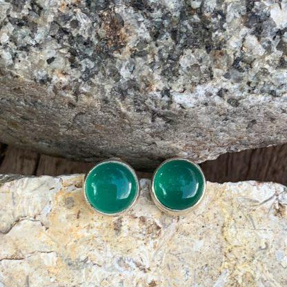 Green Onyx Classic Studs