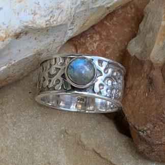 Labradorite Sterling Wide Ring