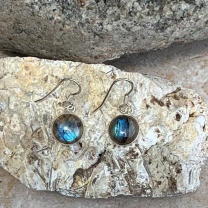 Labradorite Sterling Silver Earrings