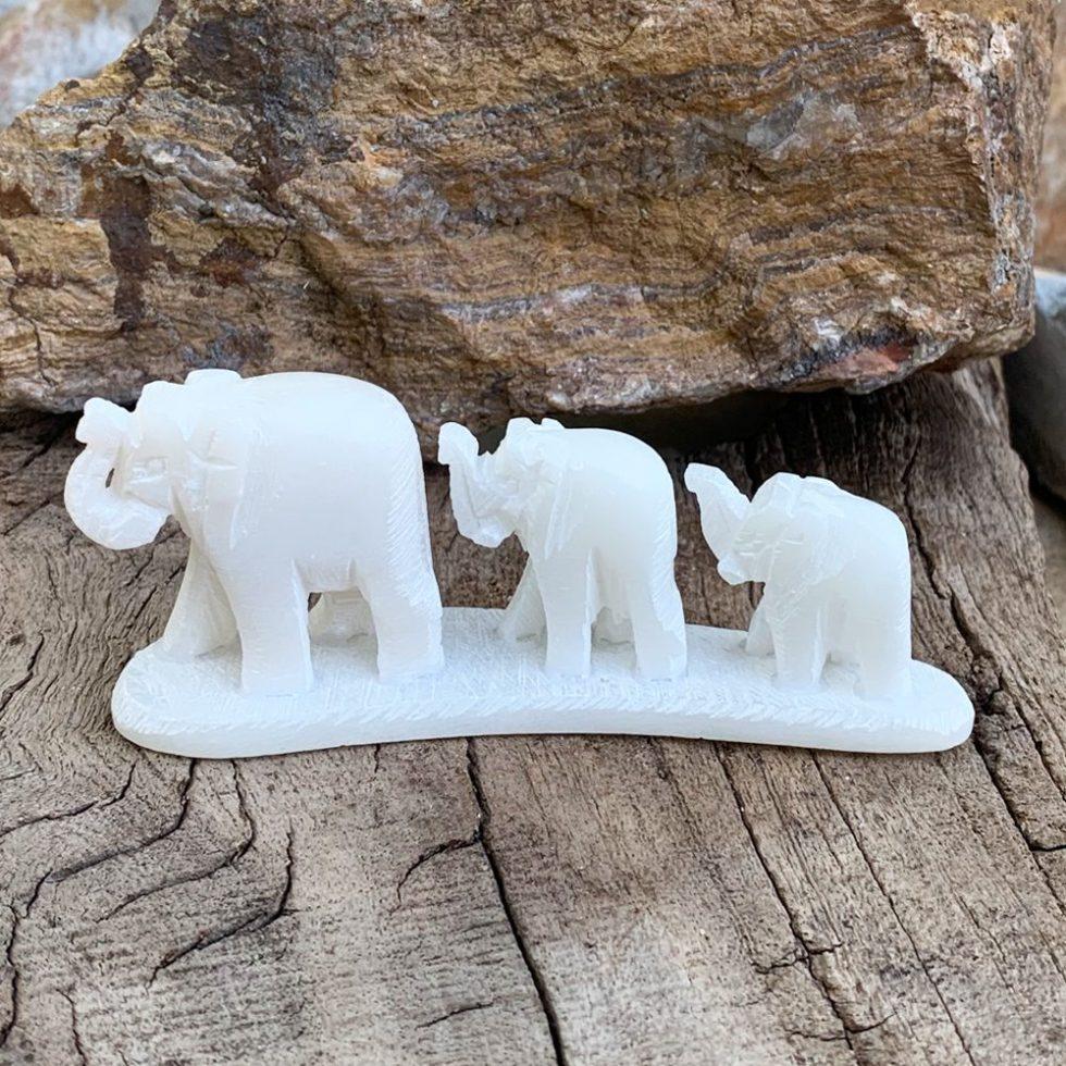 Hand Carved Soapstone Elephants