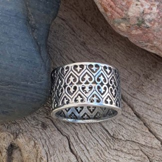 Sterling Hearts & Crosses Band