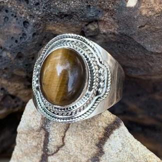 Sterling Tiger Eye Ring