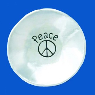 Pewter Peace Charm Bowl