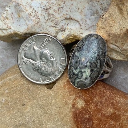 Leopard Skin Jasper Ring
