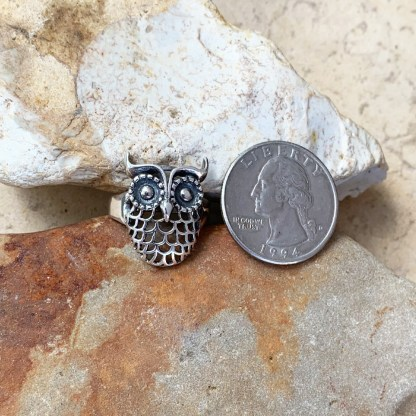 Sterling Silver Owl Ring
