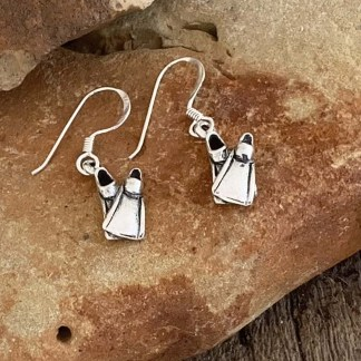 Sterling Scuba Fin Earrings