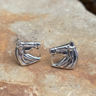 Sterling Horse Head Earrings