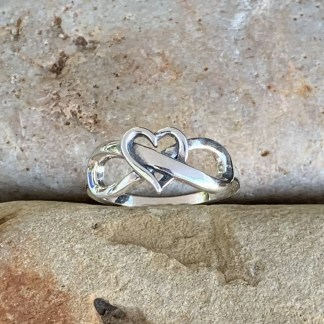 Sterling Heart Infinity Ring