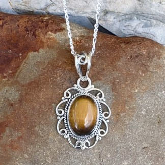 Oval Tiger's Eye Pendant