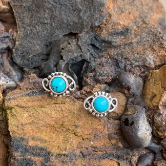 Sterling Turquoise Stud Earrings