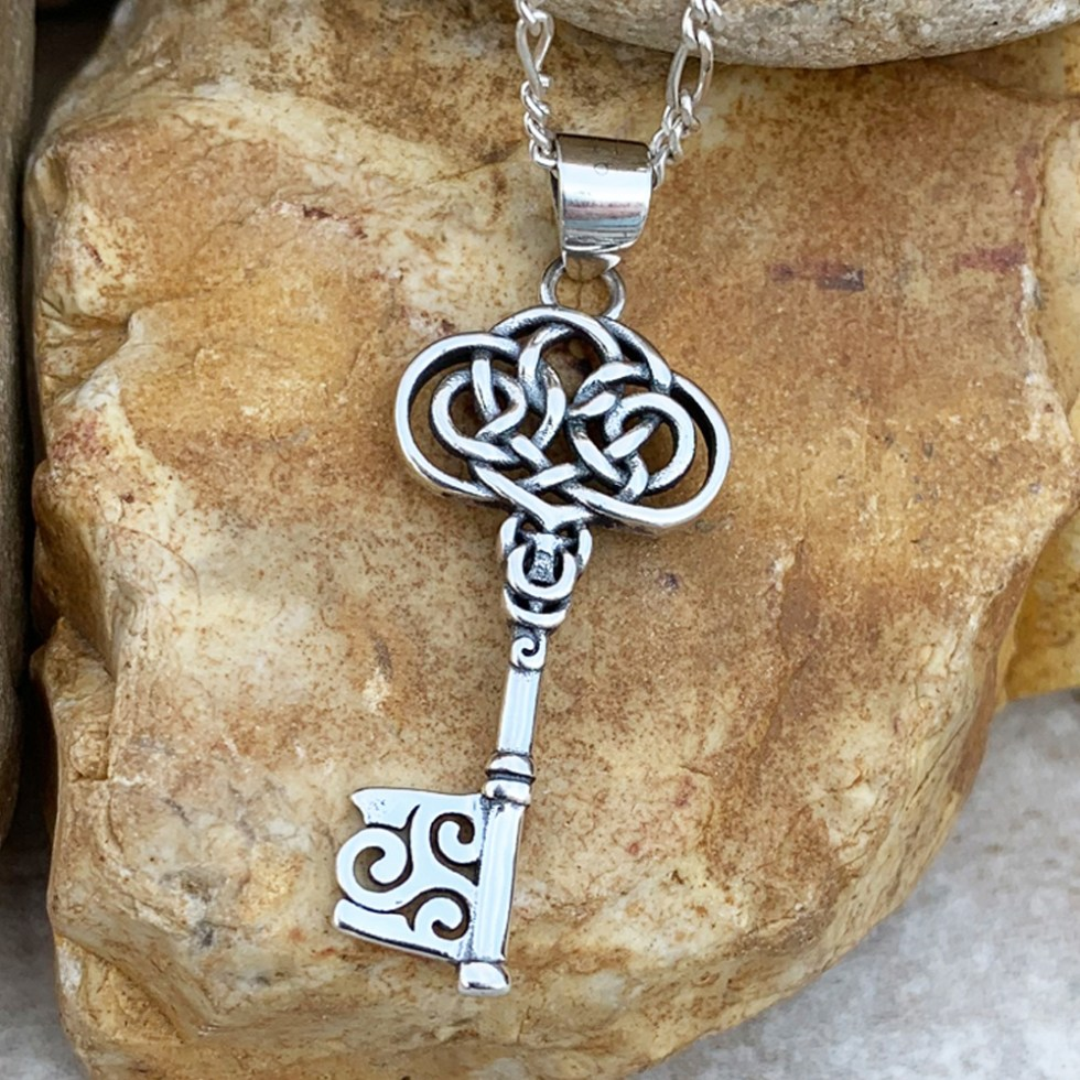 Sterling Celtic Key Pendant