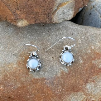 Delicate Pearl Sterling Earrings
