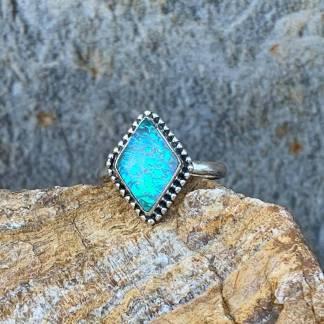 Diamond Shaped Opal Ring