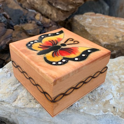 Petite Handcrafted Butterfly Box