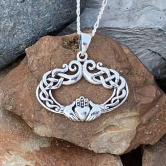 Elegant Sterling Claddagh Pendant
