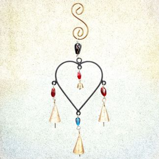 Heart Four Bell Wind-Chime