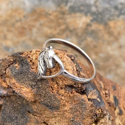 Horse in Heart Ring