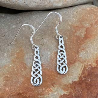 Celtic Knot Waterfall Earrings