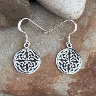 Celtic Knot Disk Earrings