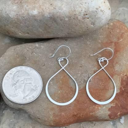 Sterling Large Infinity Earrings