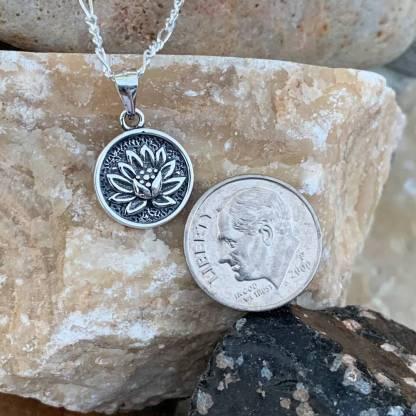 Dainty Lotus Medallion Pendant