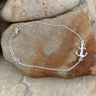 Sterling Silver Anchor Bracelet