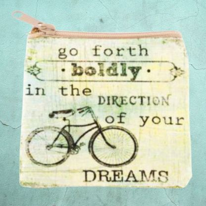 Bicycle Dreamer Coin Purse