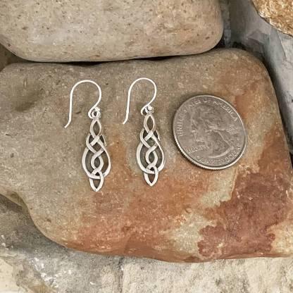 Marquise-Shape Celtic Knot Earrings