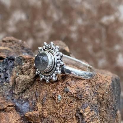 Dainty Sterling Labradorite Ring