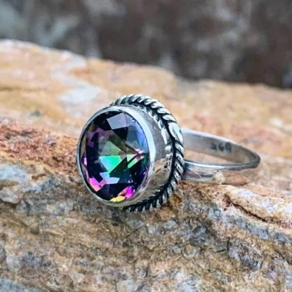 Mystic Topaz Round Ring