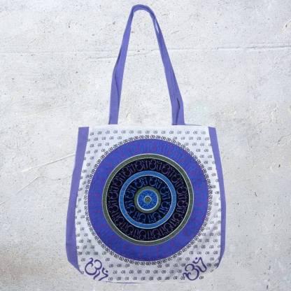 Purple Cotton Om Bag
