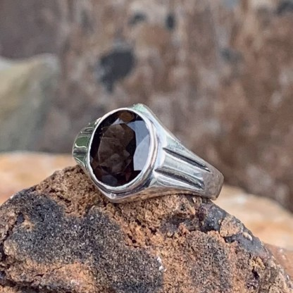 Oval Smoky Topaz Ring