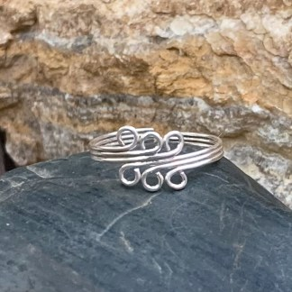Sterling Waves Toe Ring