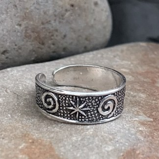 Spiral & Stars Toe Ring
