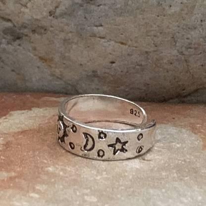 Sterling Celestial Toe Ring