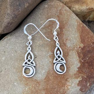 Sterling Celtic & Moon Earrings