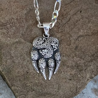 Sterling Claw Triskelion Pendant