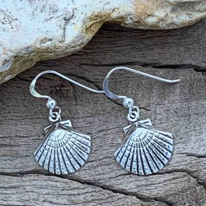 Seashell Sterling Silver Earrings
