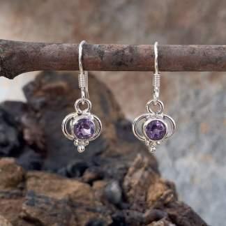 Delicate Amethyst & Sterling Earrings