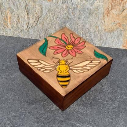 Bee & Pink Flower Box