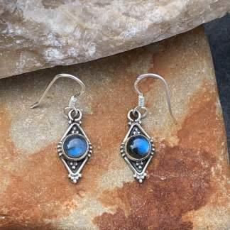 Blue Fire Labradorite Earrings